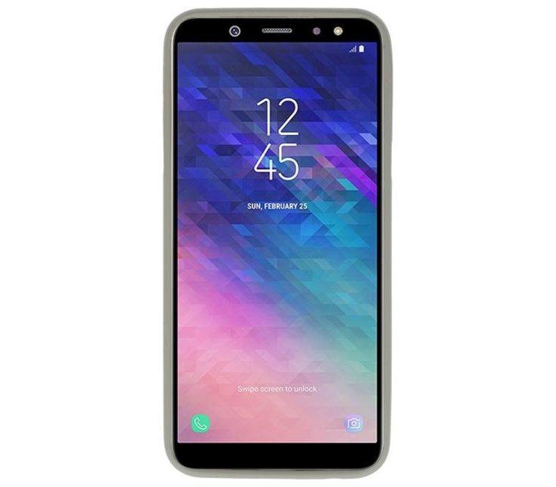 Color TPU Hoesje voor Samsung Galaxy A6 2018 Grijs