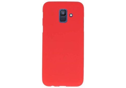 Color TPU Hoesje voor Samsung Galaxy A6 2018 Rood