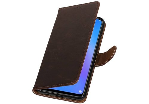 Pull Up Bookstyle voor Huawei P Smart Plus Mocca