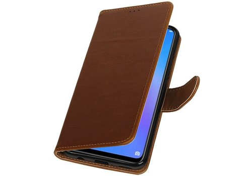 Pull Up Bookstyle voor Huawei P Smart Plus Bruin
