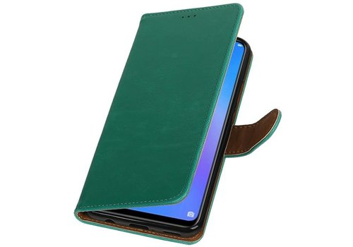 Pull Up Bookstyle voor Huawei P Smart Plus Groen