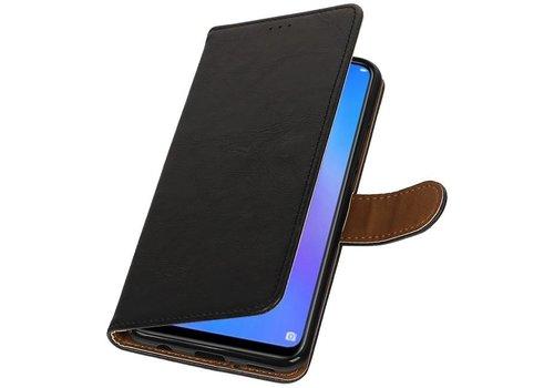 Pull Up Bookstyle voor Huawei P Smart Plus Zwart