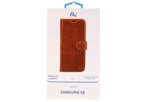 Rico Vitello Bruin Echt Leder Hoesje Galaxy S8