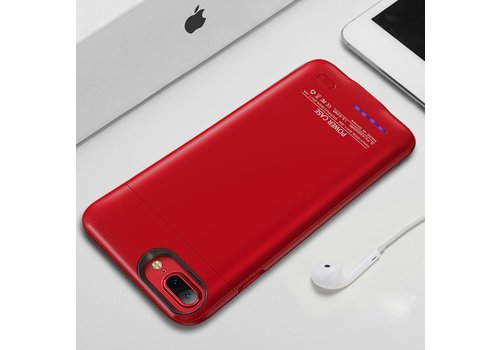 Battery Power Case voor iPhone 6 / 6s / 7 3000 mAh Rood