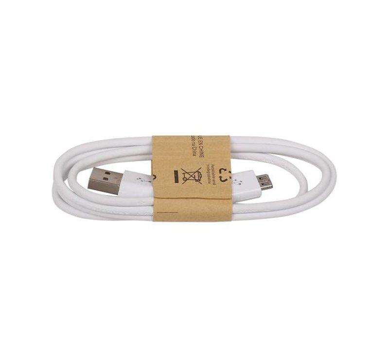 2.1 A Micro USB kabel Wit