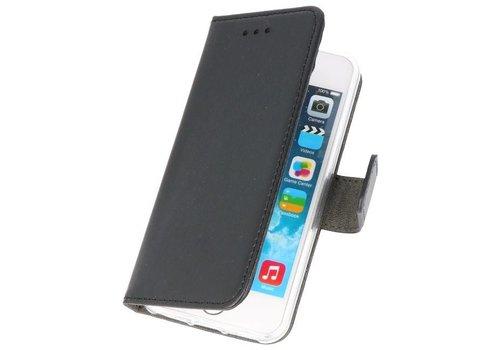 Wallet Cases Hoesje voor iPhone 5 Zwart