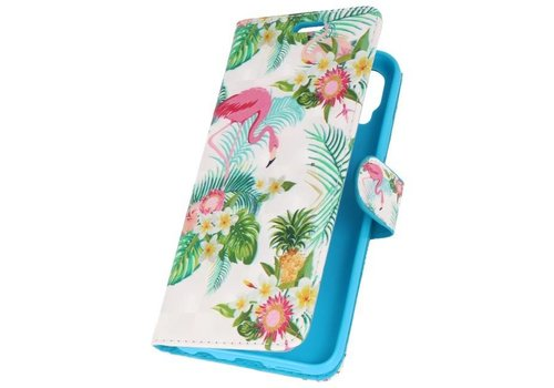 Bookstyle Hoesje voor Huawei P20 Pro 3D Print Flamingo