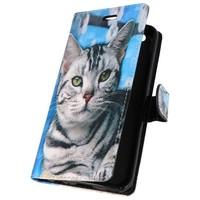 Bookstyle Hoesje voor Huawei P20 3D Print Cat
