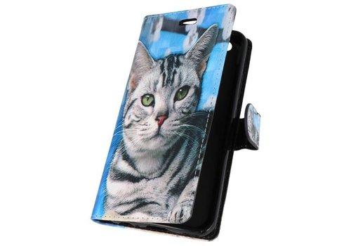 Bookstyle Hoesje voor Huawei P10 Lite 3D Print Cat