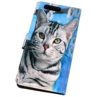 Bookstyle Hoesje voor Huawei P10 3D Print Cat