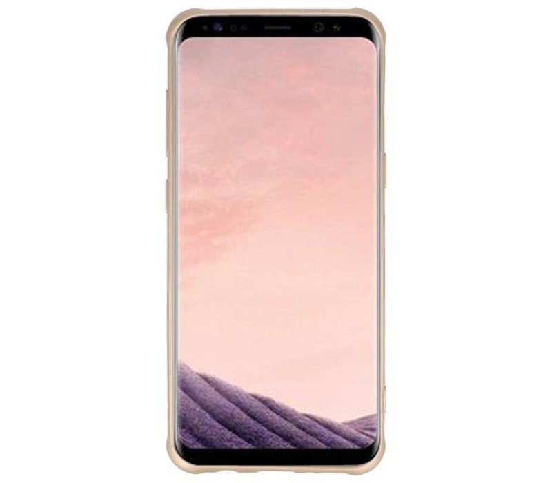 Carbon series hoesje Samsung Galaxy S8 Plus Goud