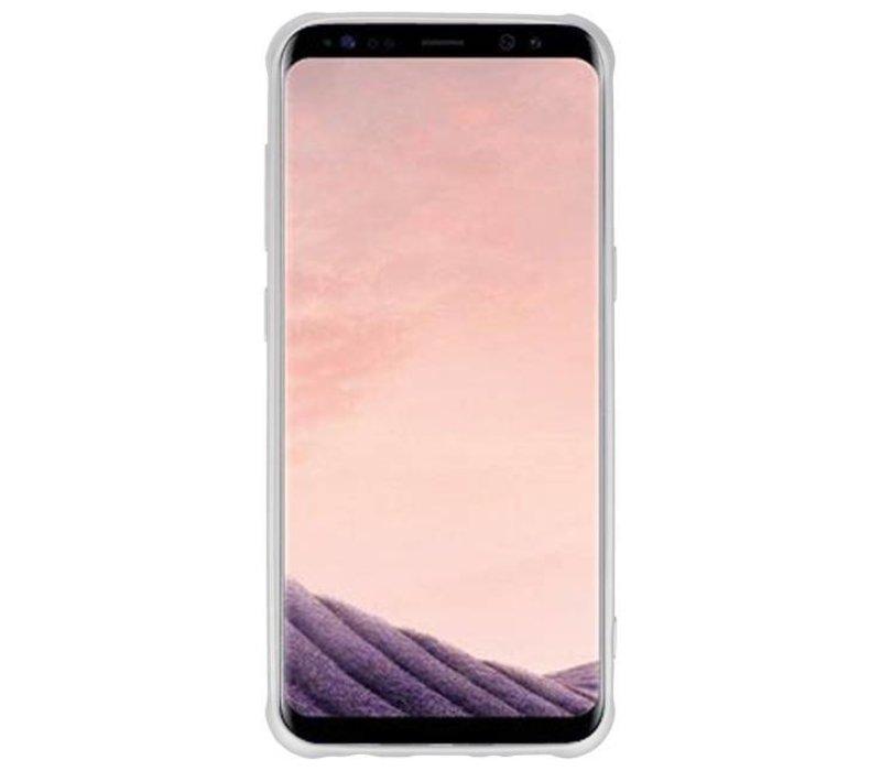 Carbon series hoesje Samsung Galaxy S8 Plus Zilver