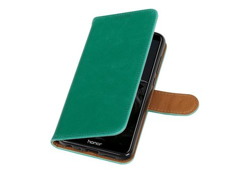 Pull Up PU Leder Bookstyle voor Huawei P Smart Groen