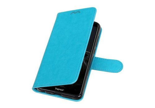 Huawei P Smart Portemonnee booktype wallet case Turquoise