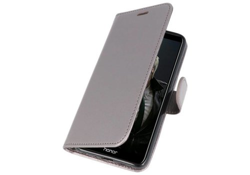 Wallet Cases Hoesje voor Huawei P Smart Grijs