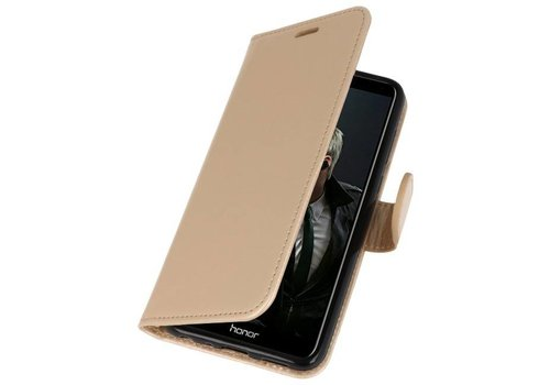 Wallet Cases Hoesje voor Huawei P Smart Goud