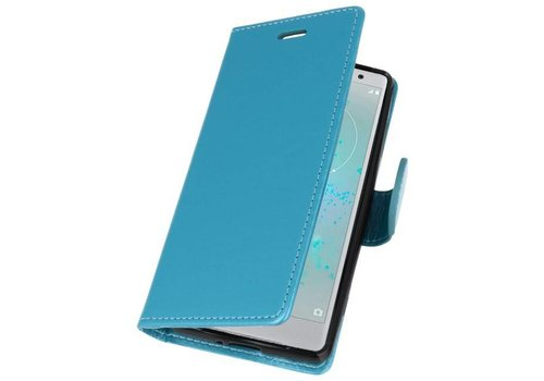 Wallet Cases Hoesje voor Xperia XZ2 Compact Turquoise