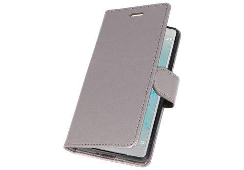 Wallet Cases Hoesje voor Xperia XZ2 Compact Grijs