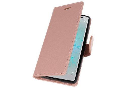 Wallet Cases Hoesje voor Xperia XZ2 Compact Roze