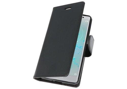 Wallet Cases Hoesje voor Xperia XZ2 Compact Zwart