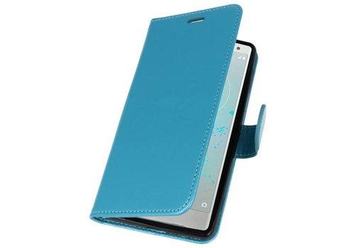 Wallet Cases Hoesje voor Xperia XZ2 Turquoise