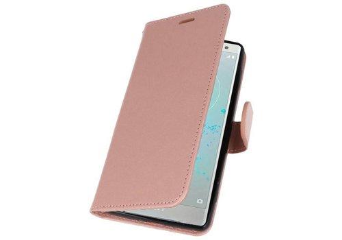 Wallet Cases Hoesje voor Xperia XZ2 Roze
