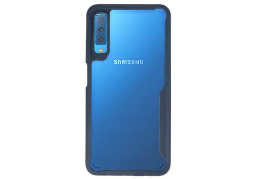 Focus Transparant Hard Cases voor Samsung Galaxy A7 2018 Navy