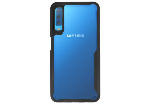 Focus Transparant Hard Cases voor Samsung Galaxy A7 2018 Zwart