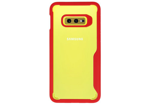 Focus Transparant Hard Cases voor Samsung Galaxy S10e Rood