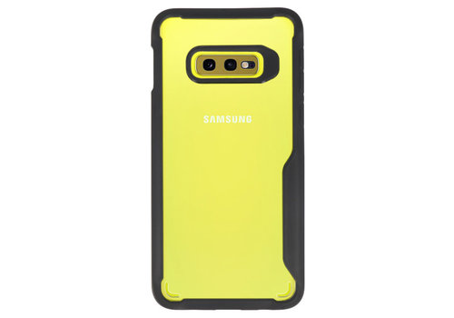 Focus Transparant Hard Cases voor Samsung Galaxy S10e Zwart