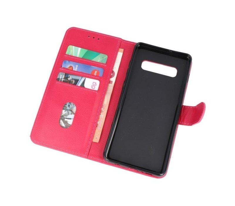 Bookstyle Wallet Cases Hoesje voor Samsung S10 Plus Roze