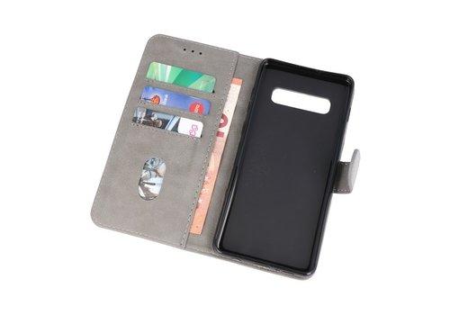 Bookstyle Wallet Cases Hoesje voor Samsung S10 Plus Grijs