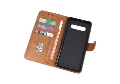 Bookstyle Wallet Cases Hoesje voor Samsung S10 Plus Bruin