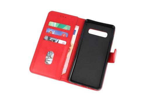 Bookstyle Wallet Cases Hoesje voor Samsung S10 Plus Rood