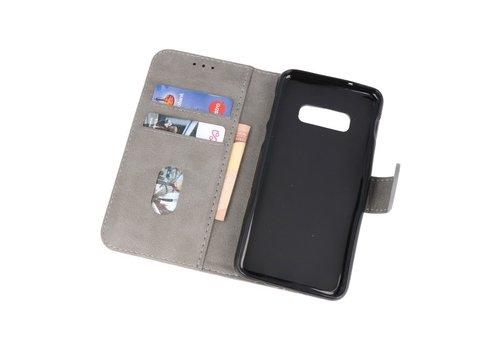 Bookstyle Wallet Cases Hoesje voor Samsung S10e Grijs