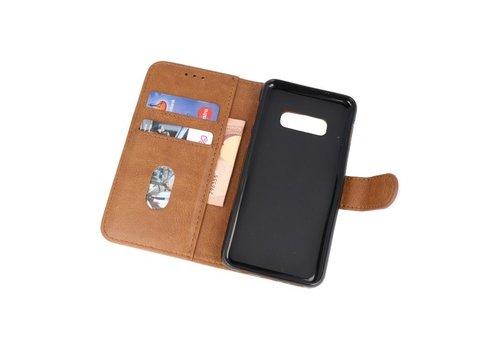 Bookstyle Wallet Cases Hoesje voor Samsung S10e Bruin