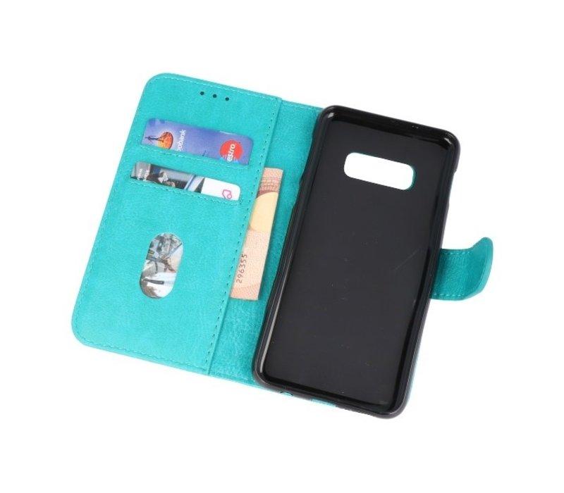 Bookstyle Wallet Cases Hoesje voor Samsung S10e Groen