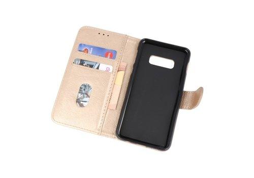 Bookstyle Wallet Cases Hoesje voor Samsung S10e Goud
