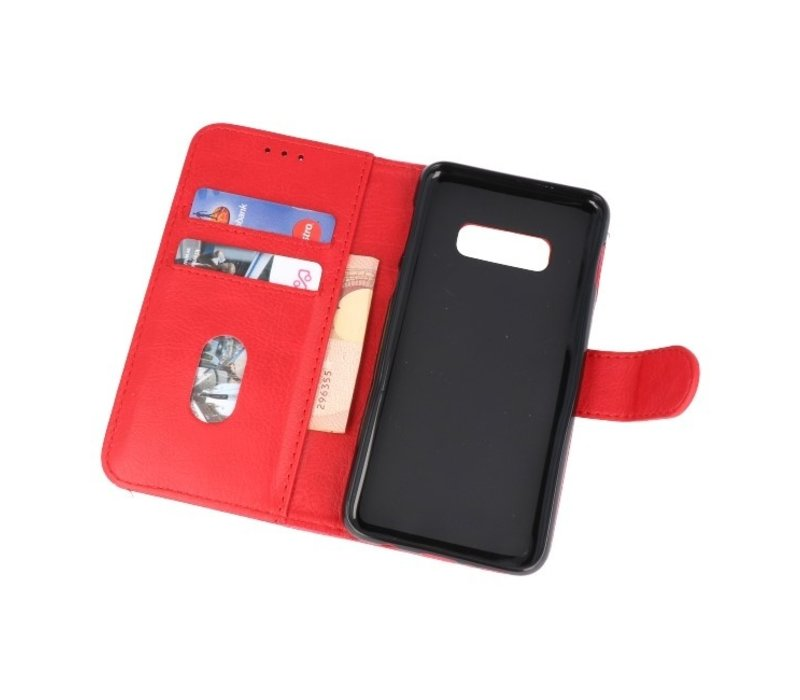 Bookstyle Wallet Cases Hoesje voor Samsung S10e Rood