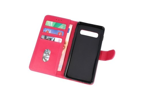 Bookstyle Wallet Cases Hoesje voor Samsung S10 Roze