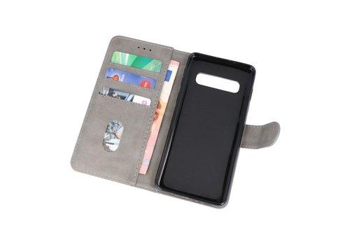 Bookstyle Wallet Cases Hoesje voor Samsung S10 Grijs