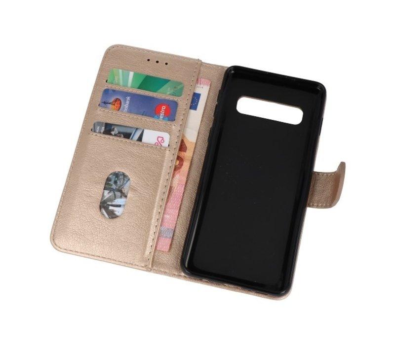 Bookstyle Wallet Cases Hoesje voor Samsung S10 Goud