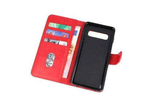 Bookstyle Wallet Cases Hoesje voor Samsung S10 Rood