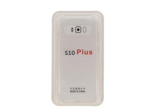 Schokbestendig transparant TPU hoesje voor Galaxy S10 Plus met verpakking