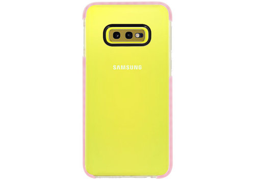 Armor TPU Hoesje voor Samsung Galaxy S10e Transparant / Roze
