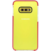 Armor TPU Hoesje voor Samsung Galaxy S10e Transparant / Rood