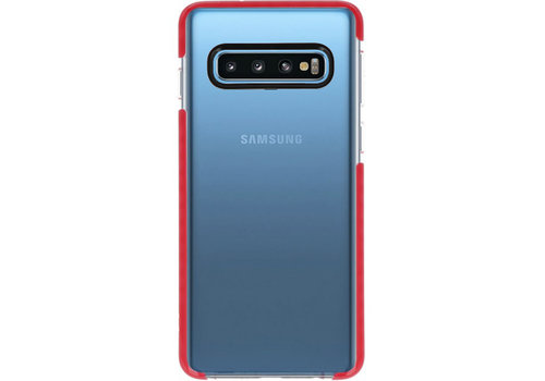 Armor TPU Hoesje voor Samsung Galaxy S10 Transparant / Rood