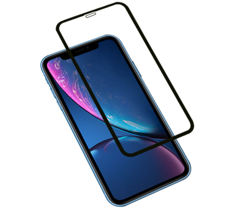 3D Tempered Glass voor iPhone XR Zwart
