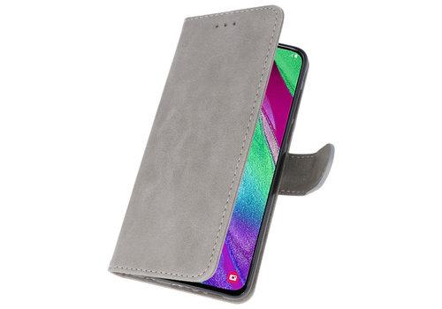 Bookstyle Wallet Cases Hoesje voor Galaxy A40 Grijs