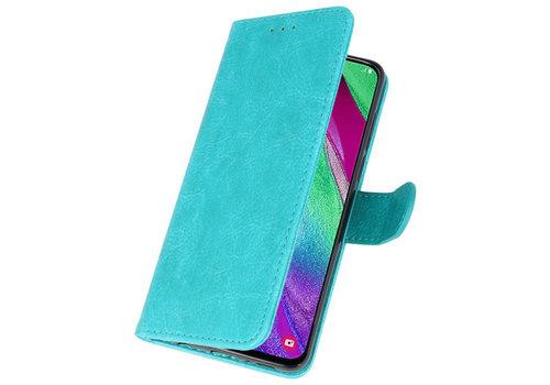 Bookstyle Wallet Cases Hoesje voor Galaxy A40 Groen